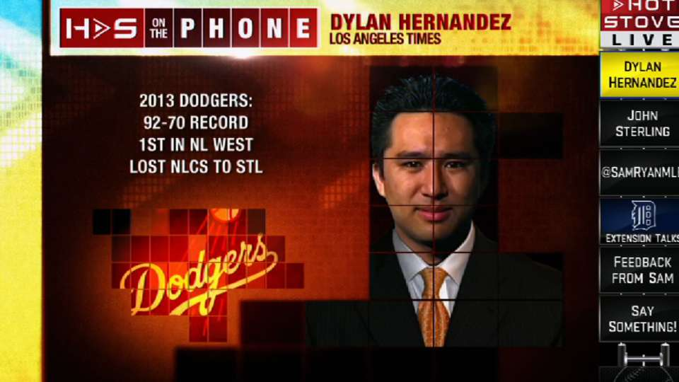 Hernandez on Dodgers' outfield