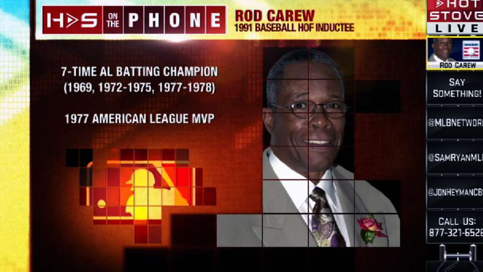 Rod Carew chats with Hot Stove