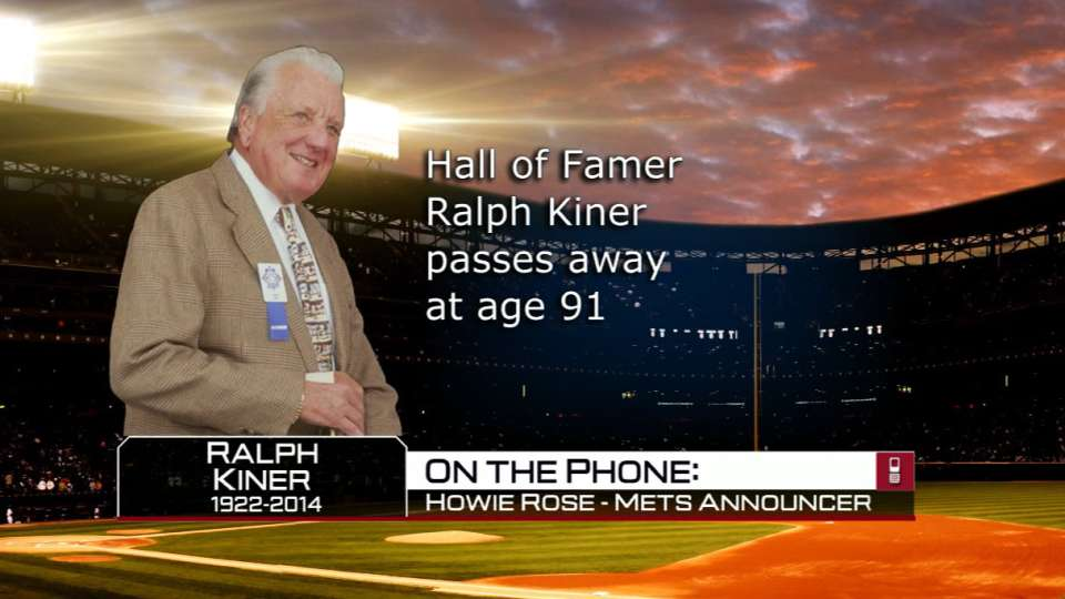 Rose discusses Kiner's passing