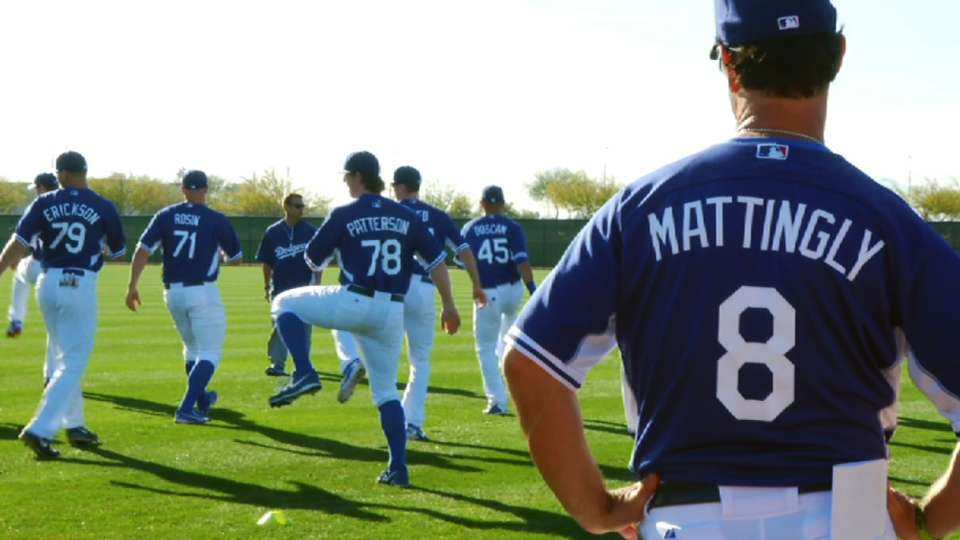 Don Mattingly at Spring Training