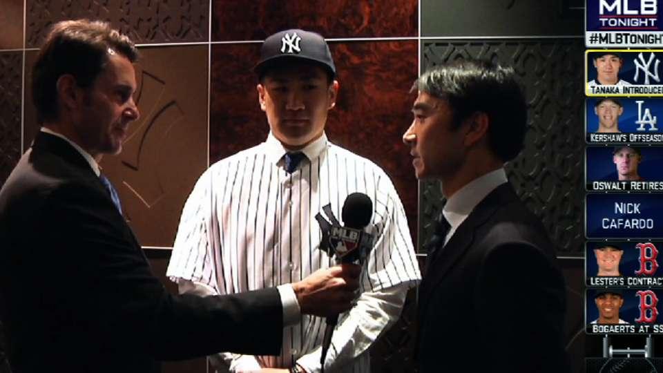 Tanaka Arrives in New York