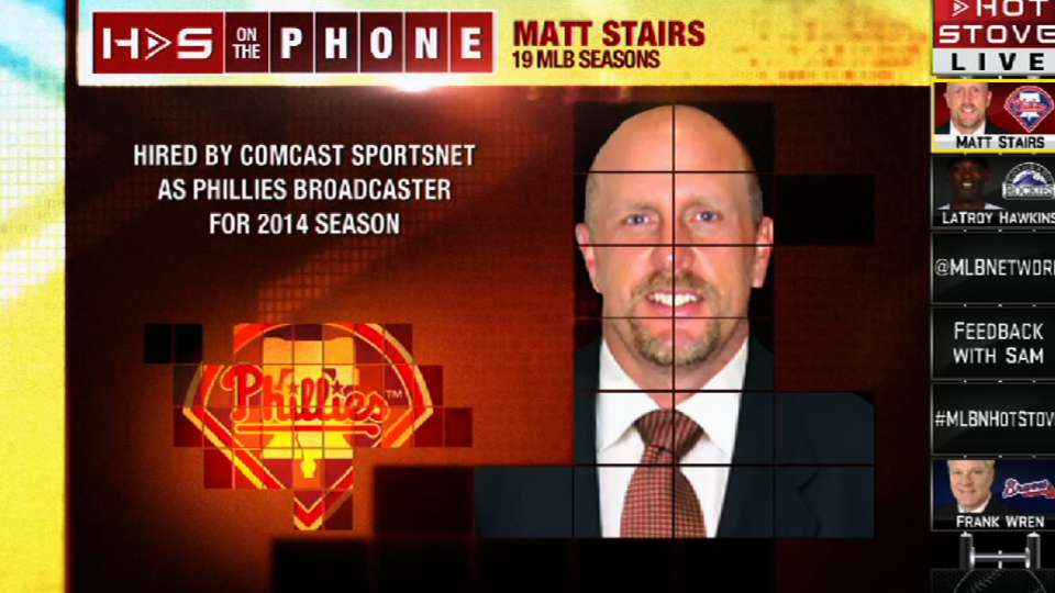 Stairs calls into Hot Stove