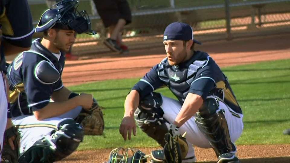 Lucroy mentors young catchers