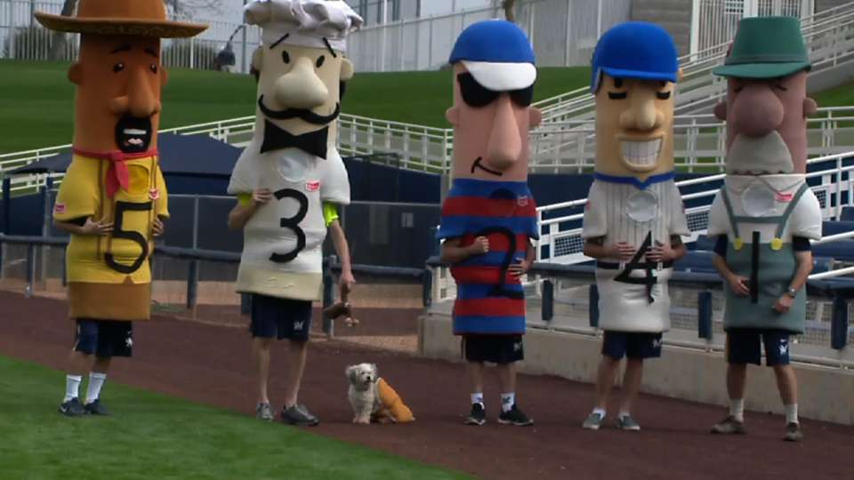 Hank the dog in Sausage Race