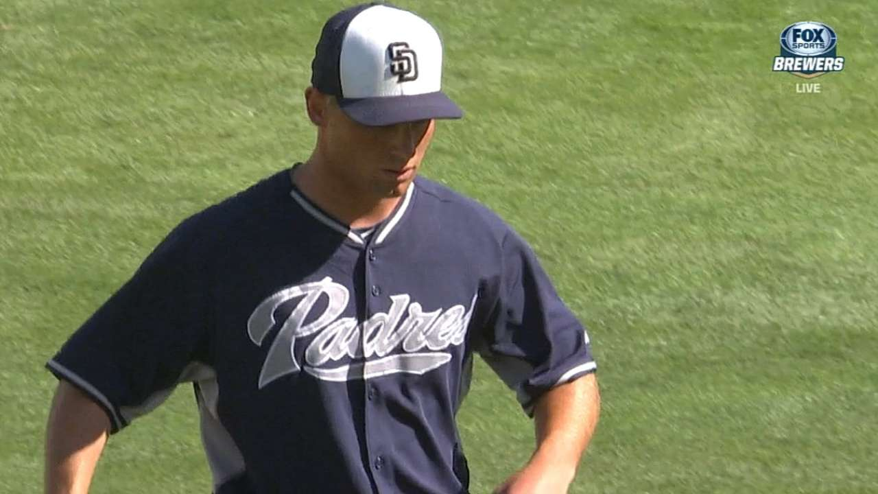 San Diego Padres starter Robbie Erlin will start Monday after nearly ... 6cb77f0dcac5