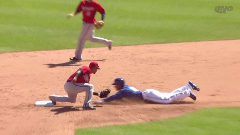 Pinto catches Gose stealing