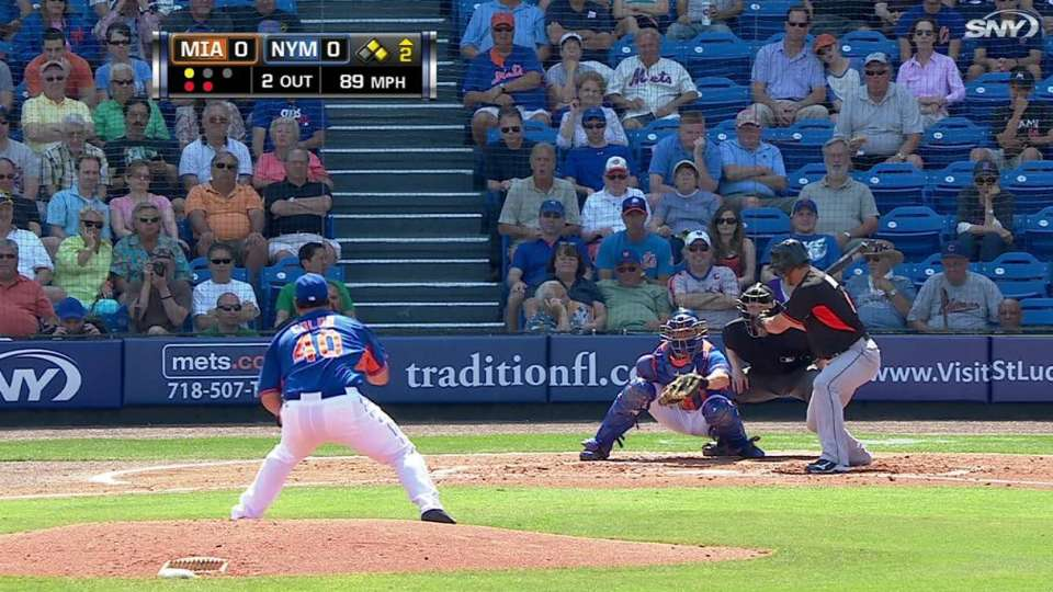 Colon's first strikeout