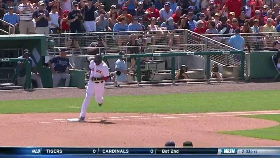 Ortiz's solo homer