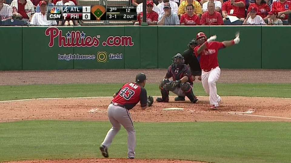 Byrd's double in the third