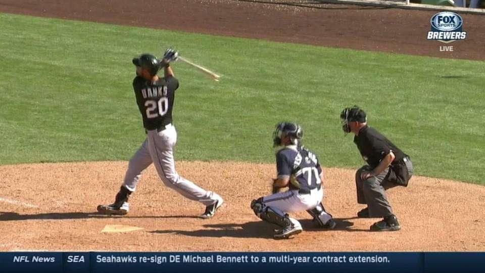 Danks' two-run home run