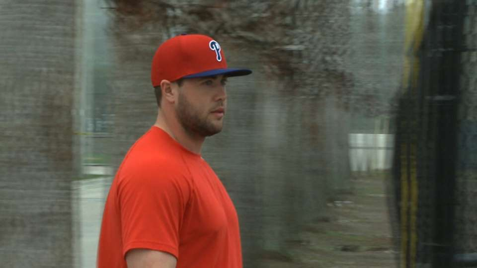 Ruf relaxed in Phillies camp