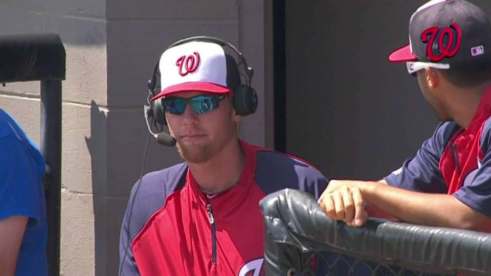 Strasburg chats with broadcast