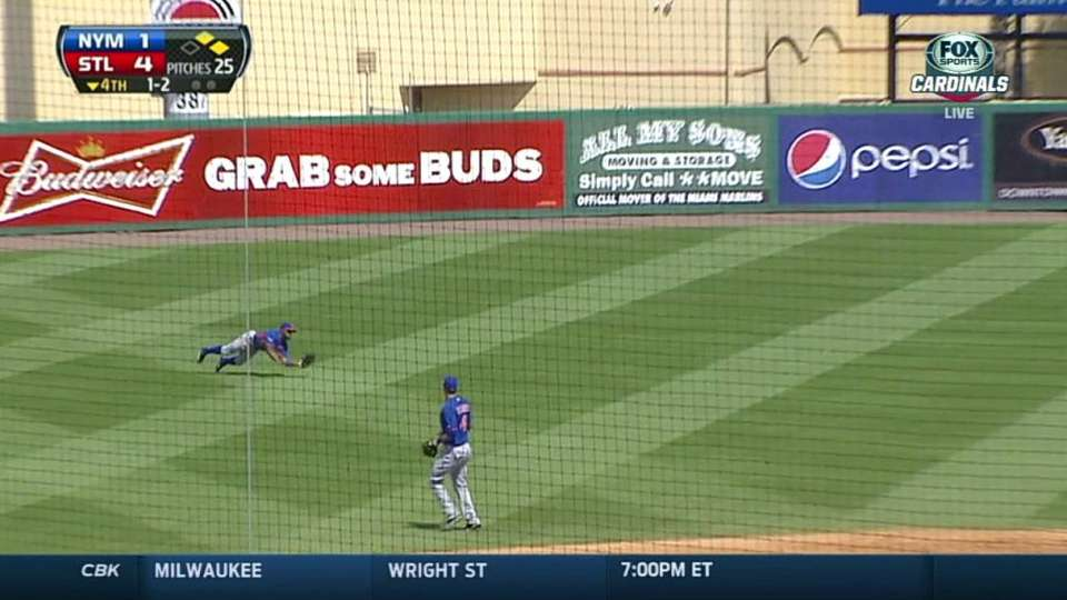 E. Young's diving catch in left
