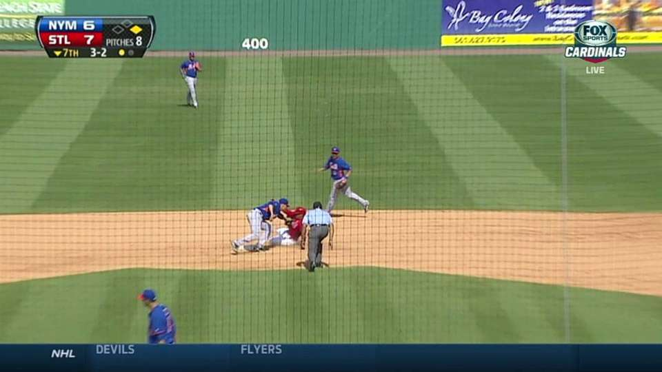 Rice starts double play