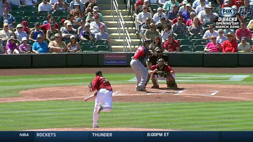 Cahill's first strikeout