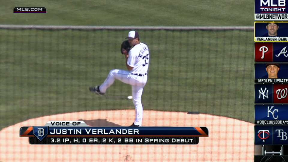 Verlander makes his spring debut