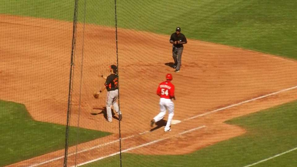 Chapman steps into batter's box
