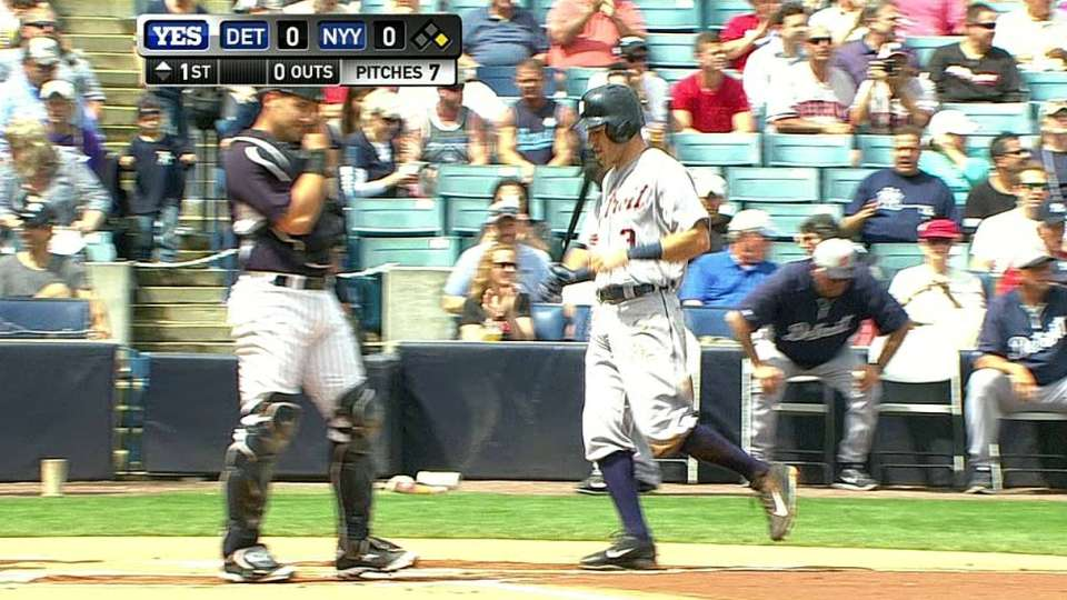 Kinsler scores on error