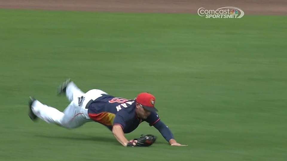 Grossman's diving catch