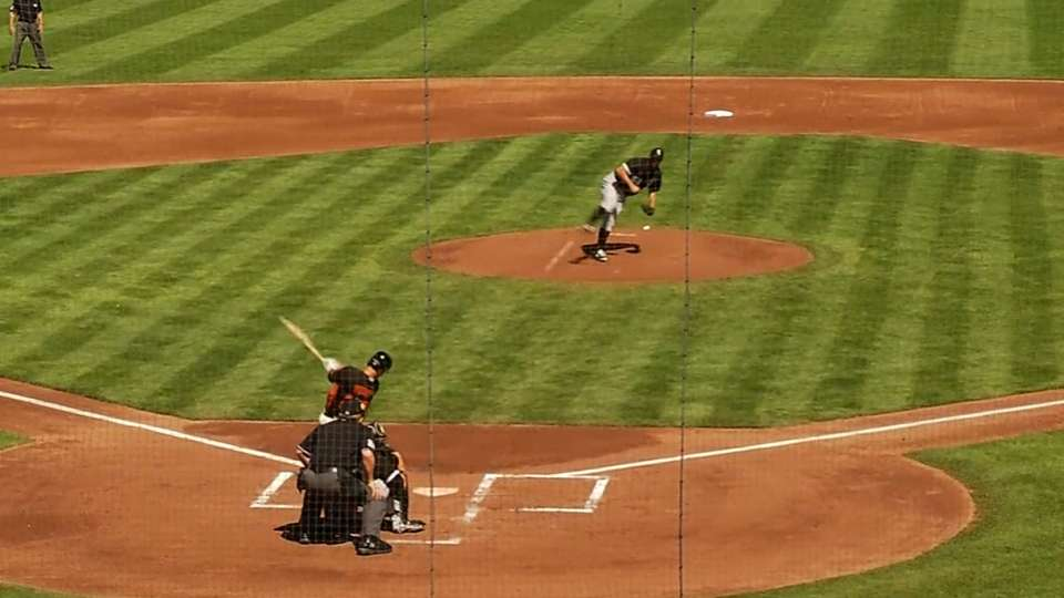 Posey's single drives in Morse
