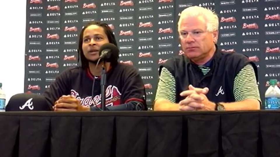 Santana on signing with Braves