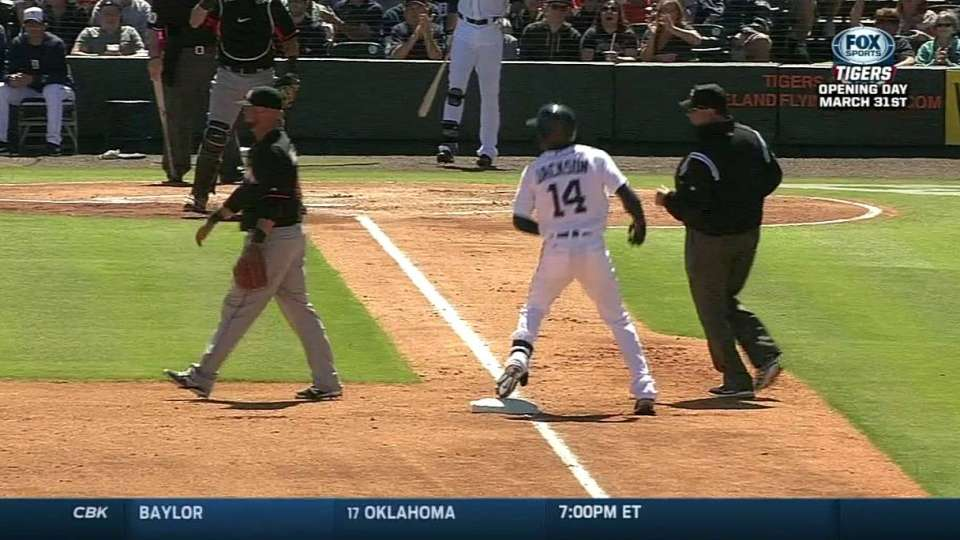 Jackson's triple to right