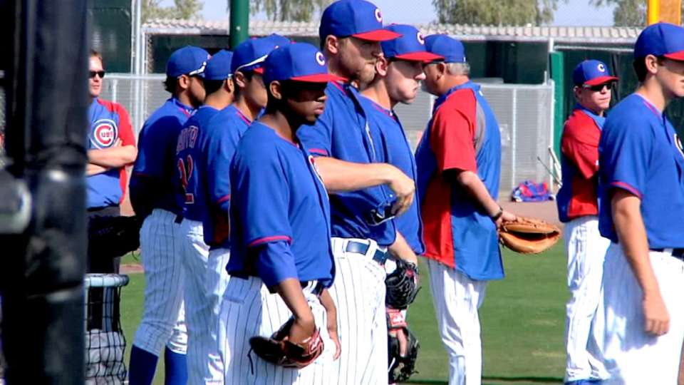 Positive energy at Cubs camp