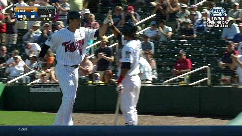 Waring's game-tying homer