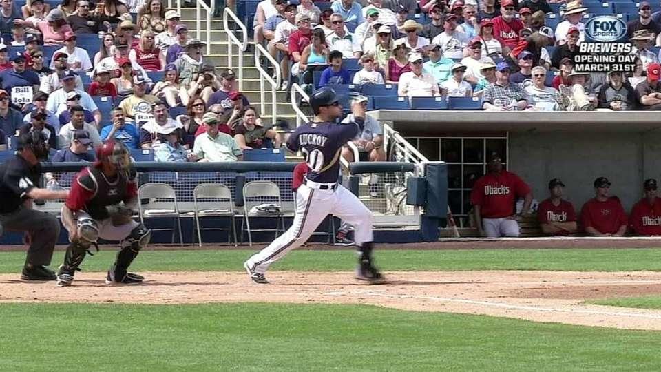Lucroy's two-run homer
