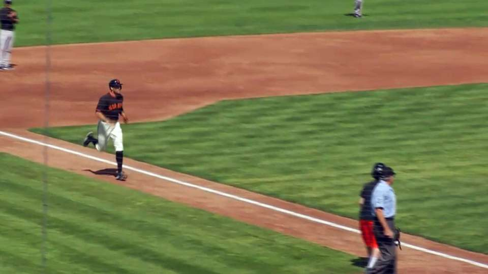 Pence's first home run