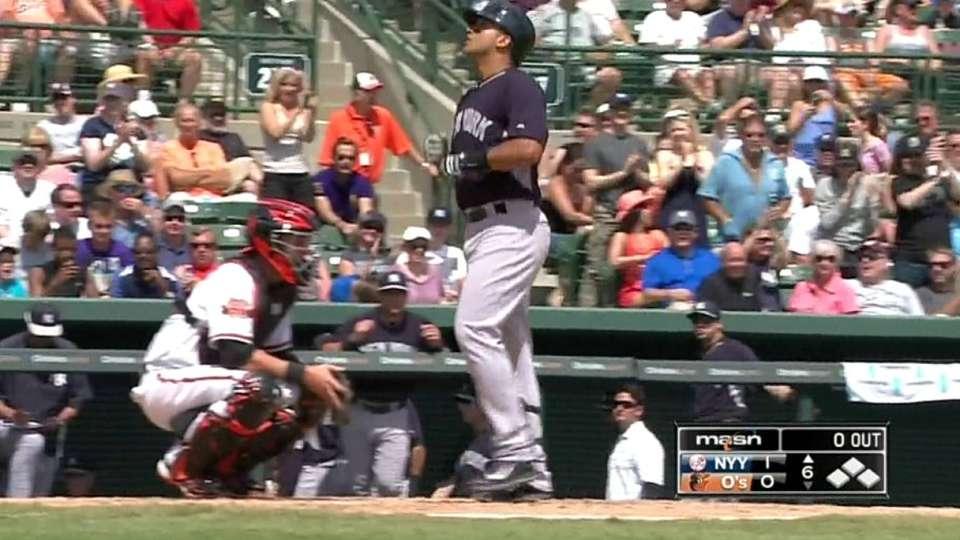 Arcia's home run to right field