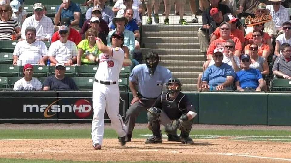 Davis' home run to left-center