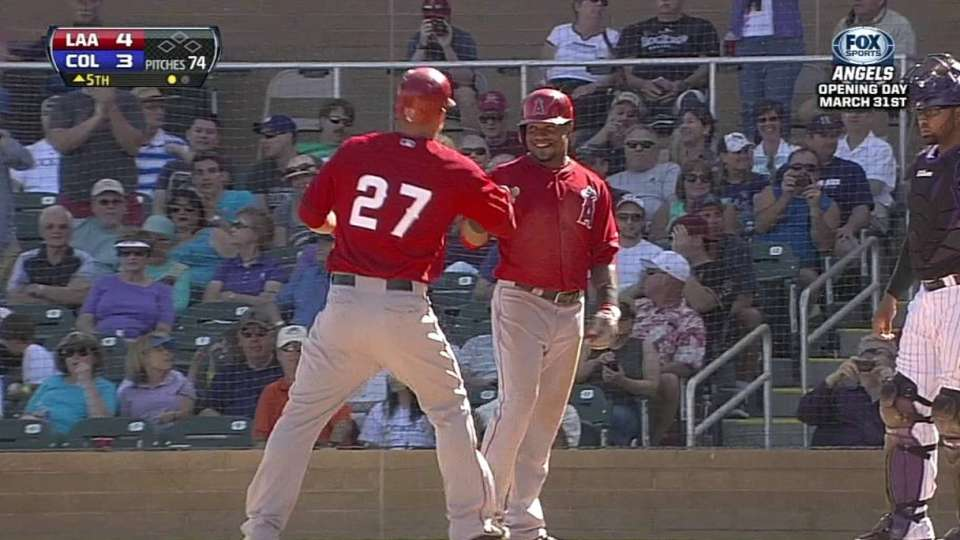 Trout's monster home run