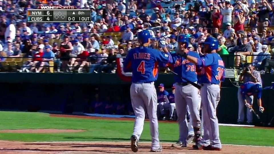 Flores' two-run home run