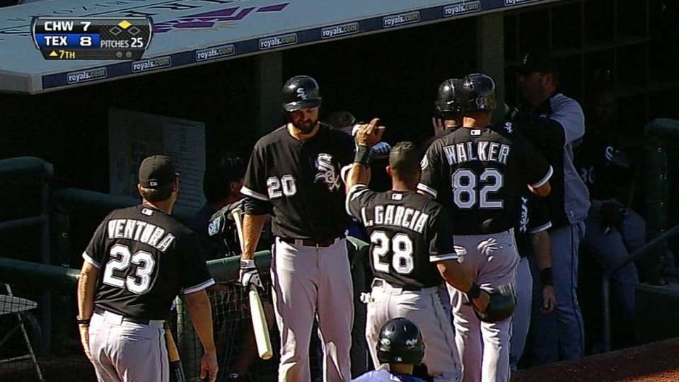 Konerko's three-run double
