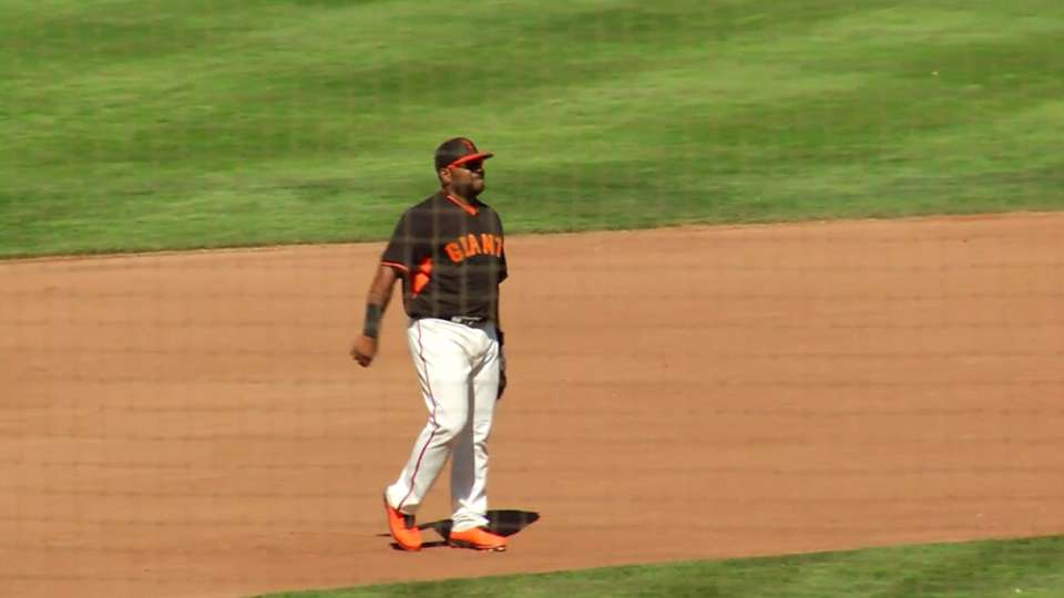 Sandoval's leaping grab