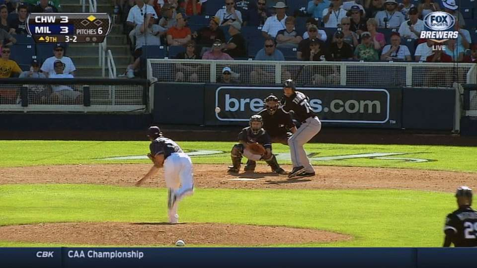 Thompson singles in the ninth