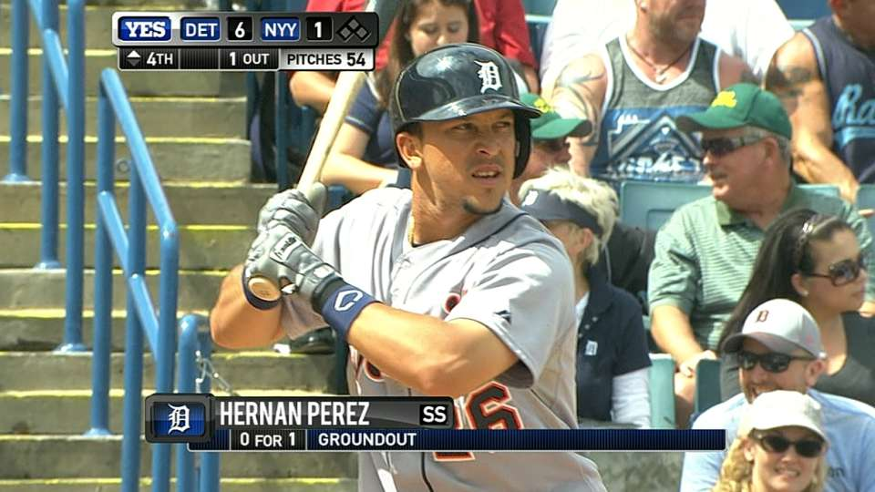 Perez singles in the fourth