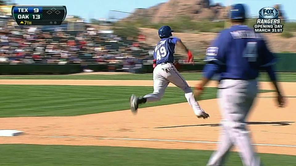 Brinson doubles to the wall