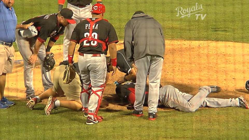 Chapman leaves on stretcher