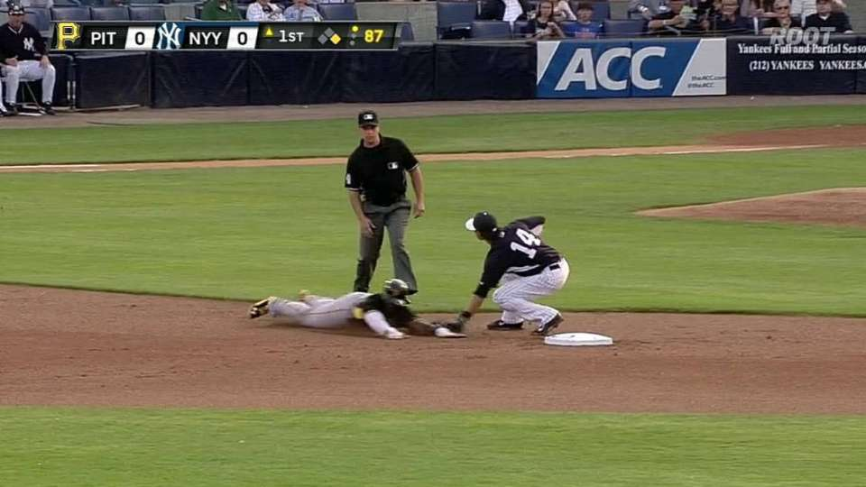 Yankees turn double play