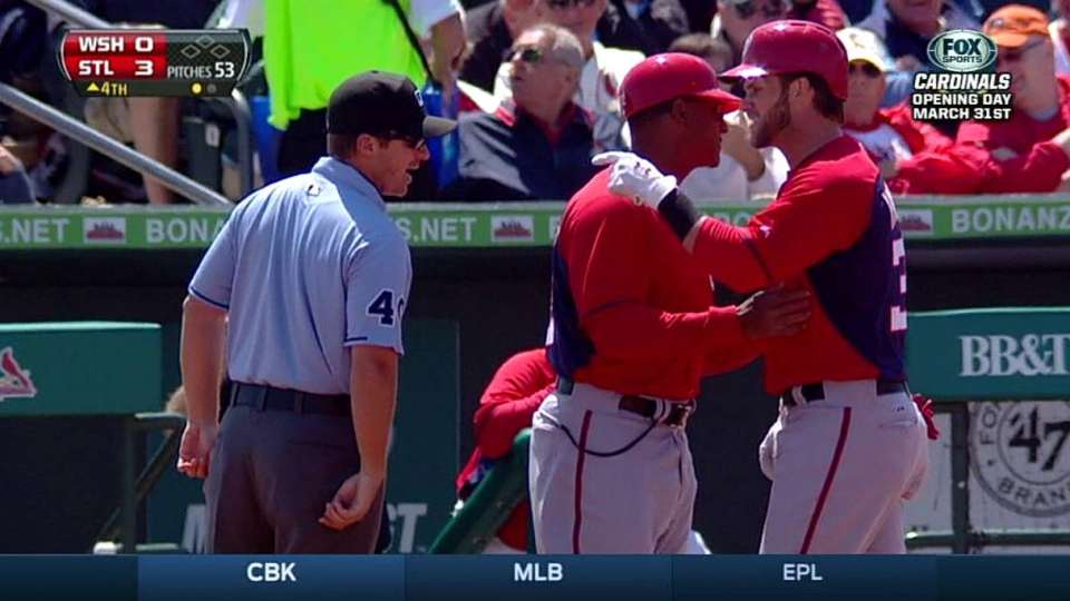 Harper gets tossed from game