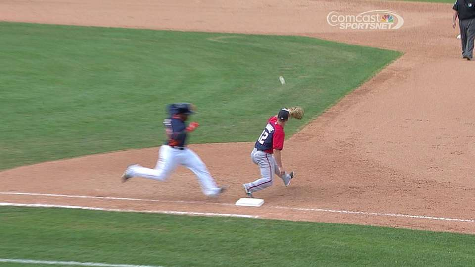 DeShields reaches after review