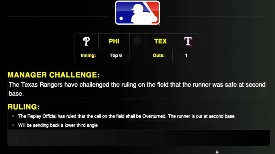 Rangers challenge call