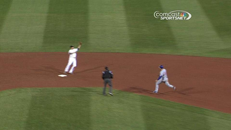 Cubs challenge, call overturned