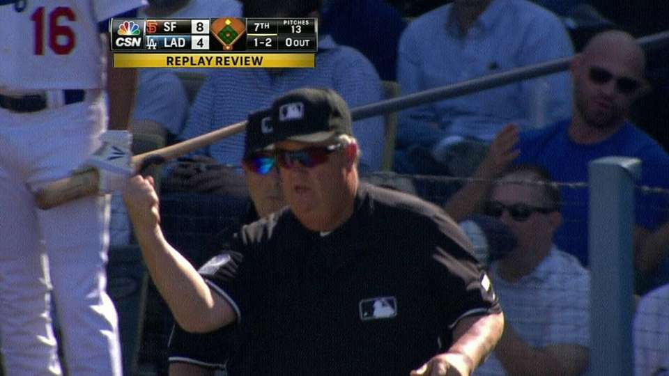Giants challenge call in 7th