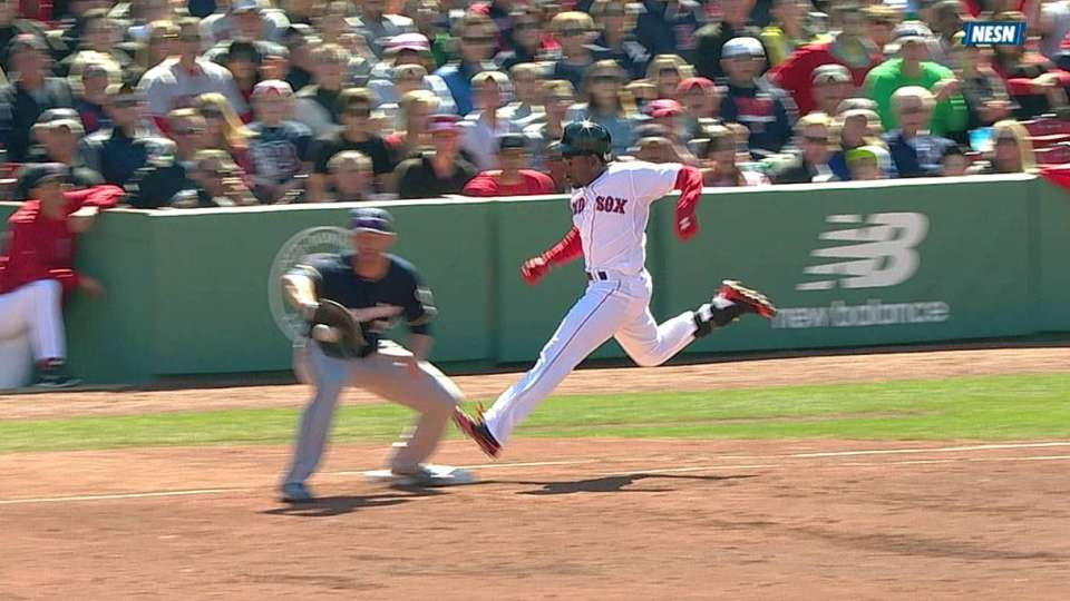 Red Sox challenge call at first