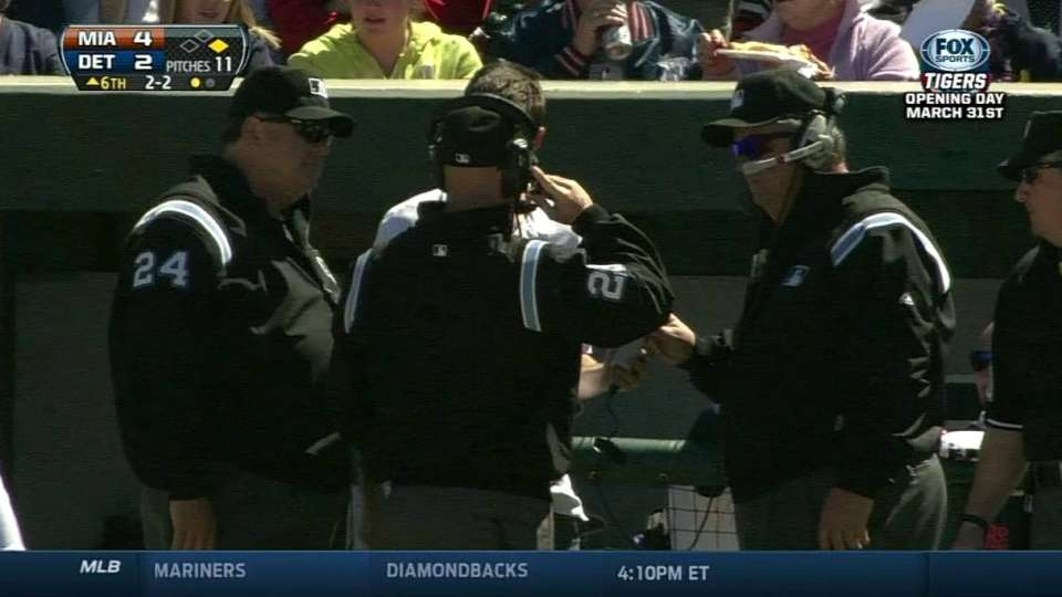 Pickoff stands after review