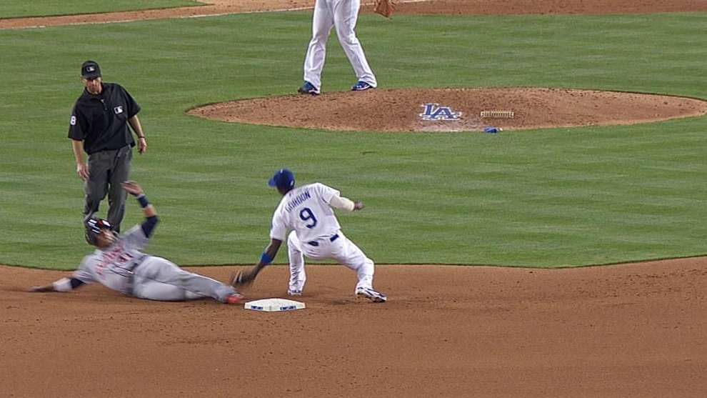 Detroit Tigers lose replay challenge on ninth-inning tag play in Los Angeles | MLB.com