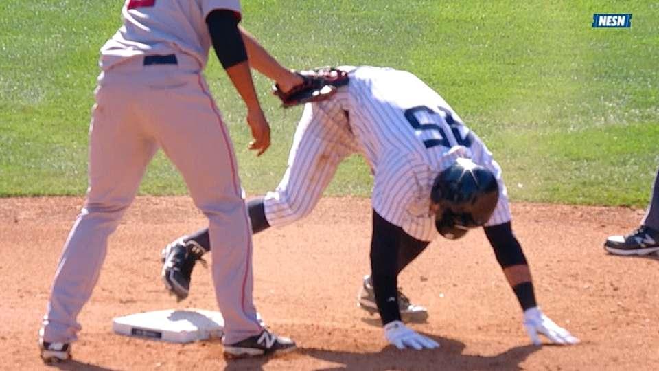 Play reviewed at second base